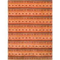 Safavieh Hand-knotted Nepalese Rust/ Multi Wool/ Silk Rug - 8' x 10'