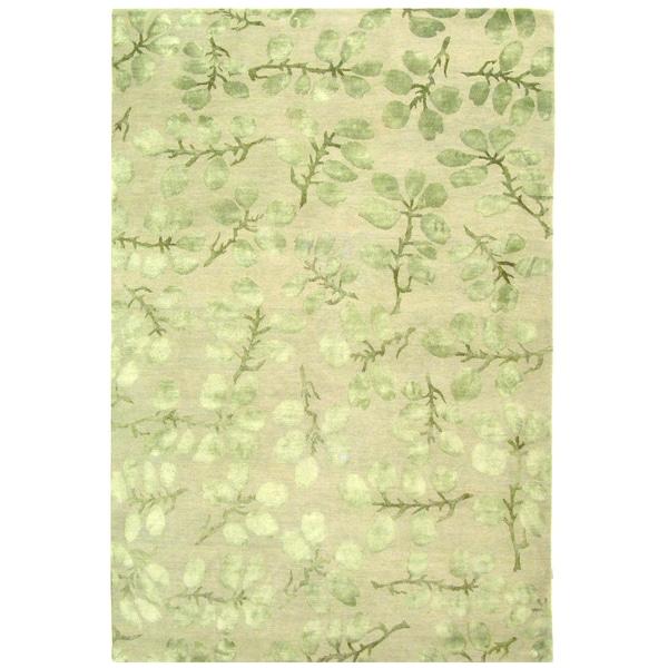 Safavieh Hand-knotted Nepalese Sage Wool/ Silk Rug - 8' x 10'