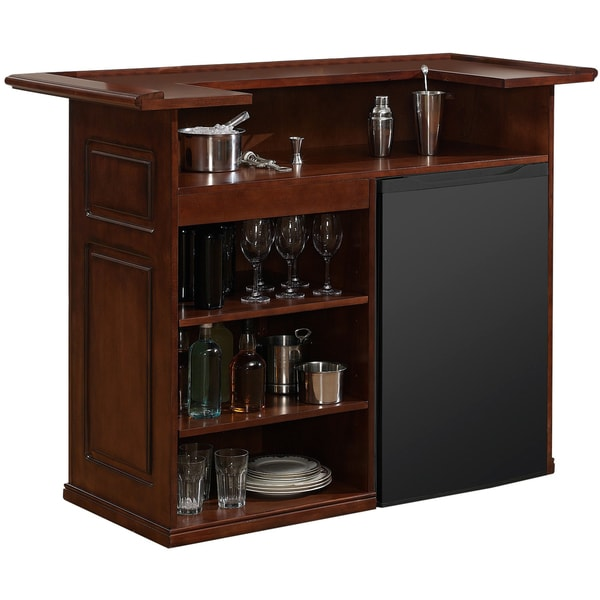 Shop sanford 58 inch brown home bar space on sale free - Mini bar in house ...