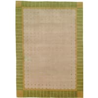 Safavieh Hand-knotted Nepalese Light Green Border Wool Rug - brown - 8' x 10'