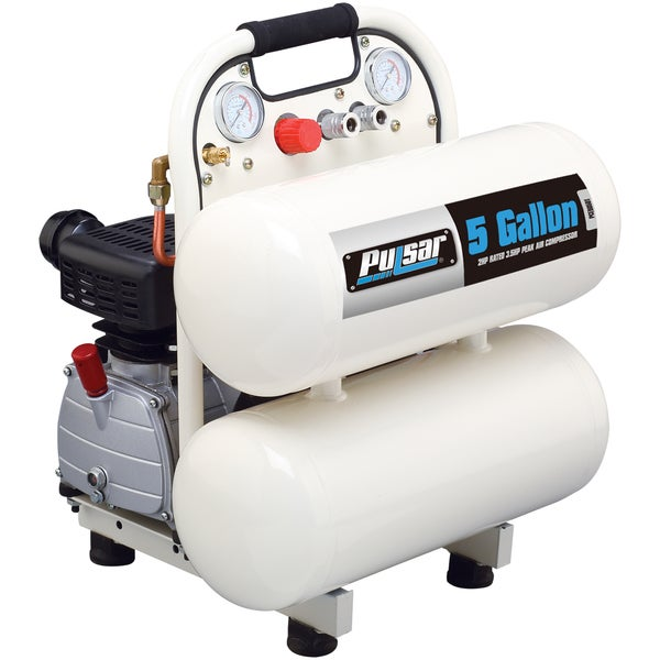Pulsar Products 5-gallon Twin Tank Air Compressor