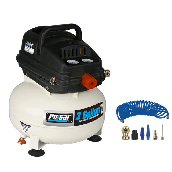 Pulsar Products 3-gallon Pancake Air Compressor with Accessories