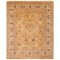 Safavieh Hand-knotted Ganges River Gold/ Ivory Wool Rug - 6' x 9'