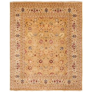 Safavieh Hand-knotted Ganges River Gold/ Ivory Wool Rug (6' x 9')