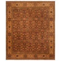 Safavieh Hand-knotted Lavar Rust/ Creme Wool Rug - 8' x 10'