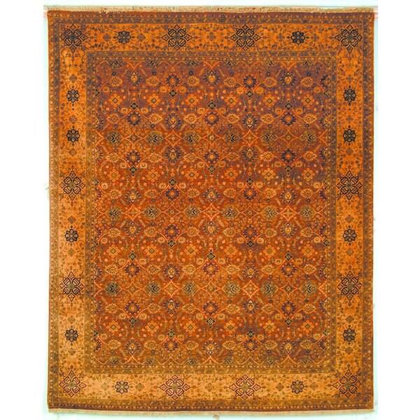 Safavieh Hand-knotted Lavar Rust/ Creme Wool Rug - 8' x 10'