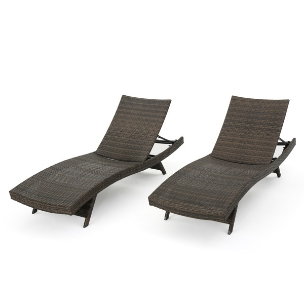 Toscana Outdoor Wicker Lounge Chairs By Christopher Knight Home Set Of 2 Free Shipping Today 16081120