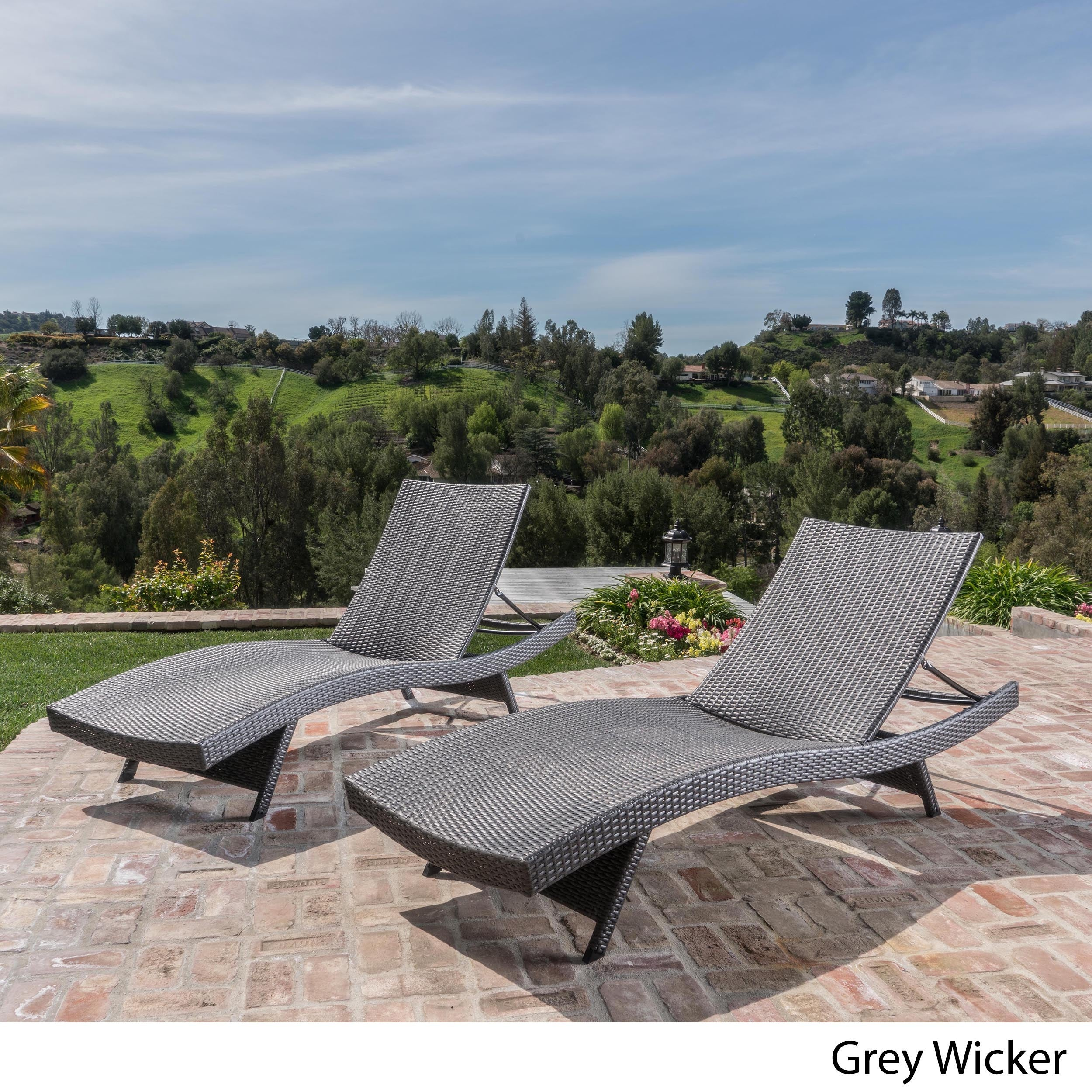 Toscana Outdoor Wicker Lounge Chairs by Christopher Knigh...