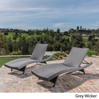 Toscana Outdoor Wicker Lounge Chairs by Christopher Knight Home (Set of 2) (3 options available)