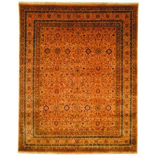 Safavieh Hand-knotted Lavar Apricot/ Gold Wool Rug (8' x 10')
