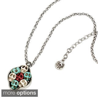 Sweet Romance Family Skull Portrait Necklace