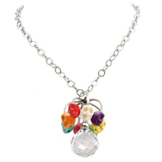Sweet Romance Tiny Sugar Skull Day of the Dead Necklace