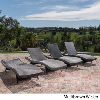 Oliver & James Baishi Outdoor Lounge Chairs (Set of 4)