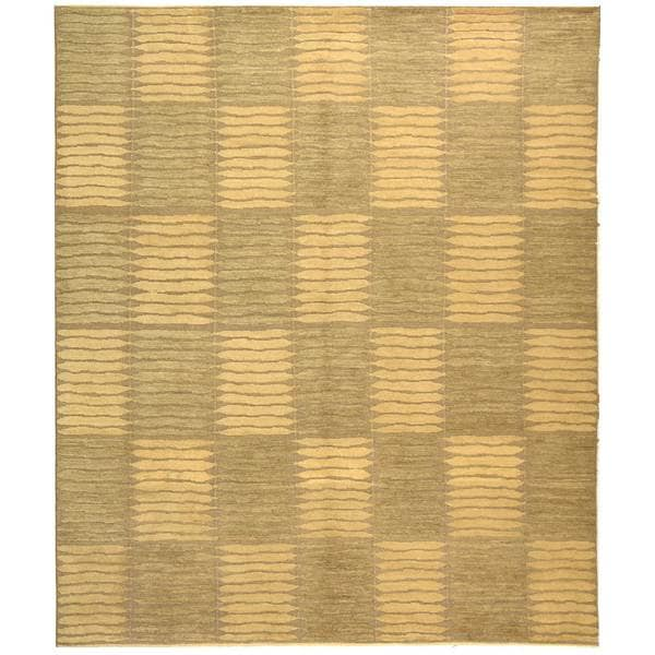 Safavieh Hand-knotted Santa Fe Modern Sage/ Ivory Wool Rug - 9' x 12'
