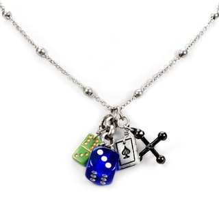 Sweet Romance Lucky Dice Domino Ace Charm Necklace