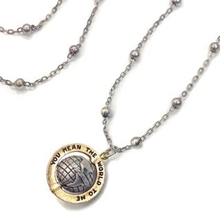 Sweet Romance 'You Mean the World To Me' Globe Vintage Necklace