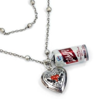 Sweet Romance Beer Can Pendant Necklace