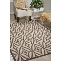 Waverly Sun N' Shade Centro Flint Indoor/ Outdoor Rug by Nourison (10' x 13') - 10' x 13'