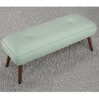 Kelly 48-inch Mid-century Aqua Bonded Tufted Bench