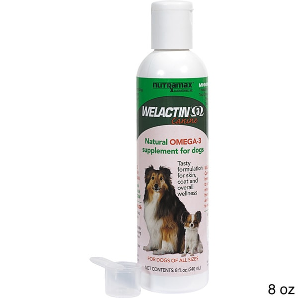 Welactin canine liquid omega 3 supplement for dogs free for Liquid fish oil for dogs