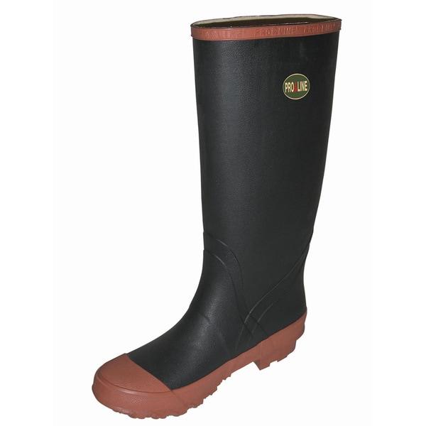 Pro Line Men's Black/Red Rubber Knee Boots