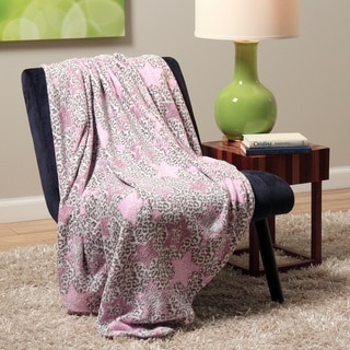 Plush Decorative Leopard Star Throw