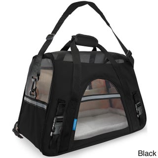 OxGord Large Soft-sided Comfort Travel Tote Pet Carrier for Cats/ Dogs Up to 22 Pounds (Option: Black)