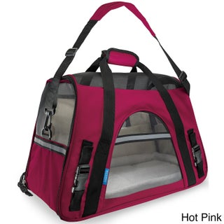 Oxgord Large Pet Carrier Soft-sided Cat/ Dog Comfort Travel Tote for Pets Up to 22 Pounds (Option: Hot Pink)