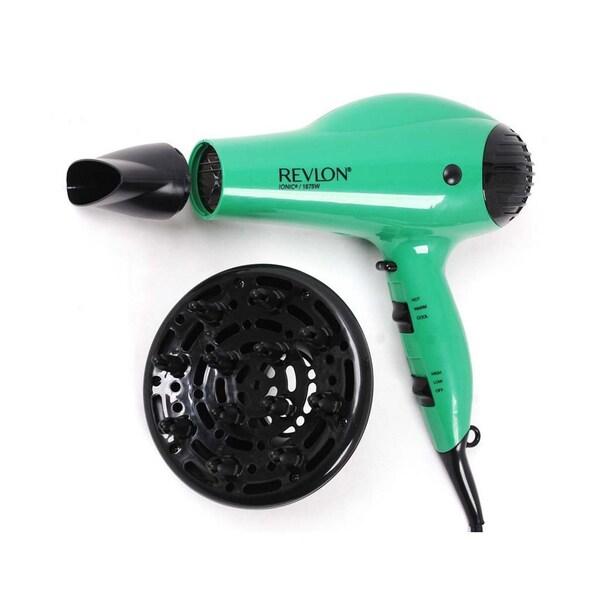 Revlon 1875-watt Volume Ionic Green Hair Dryer - Free Shipping On ...