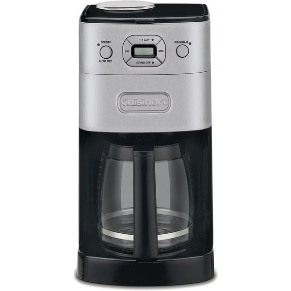 Cuisinart Grind and Brew 12-Cup Coffeemaker (Refurbished), Black/Stainless
