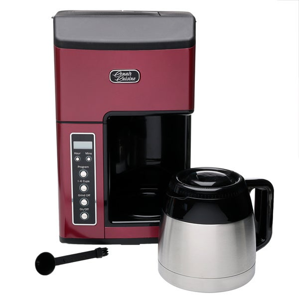 Thermal Coffee Maker Red : Conair Cuisine CC-10RFR Red 10-cup Grind n Brew Coffee Maker (Refurbished) - Free Shipping On ...