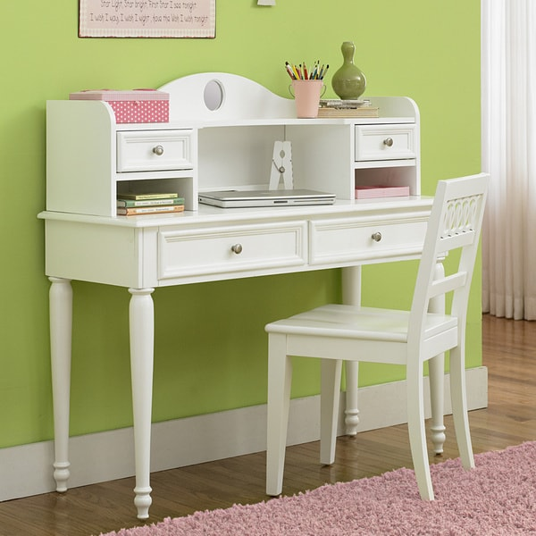 Shop Youth White 3 Piece Student Desk Set Free Shipping