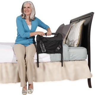 Able Life Bedside Safety Handle Adult Bed Rail with Organizer Pouch and Included Safety Strap