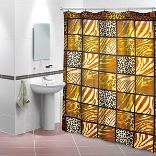 Wild Thing Shower Curtain with 12 Decorative Hooks