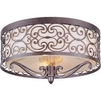Maxim Mondrian 2-light Umber Bronze Flush Mount