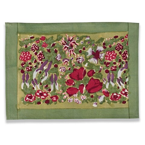 Jardine Red/ Green Placemats (Set of 6)
