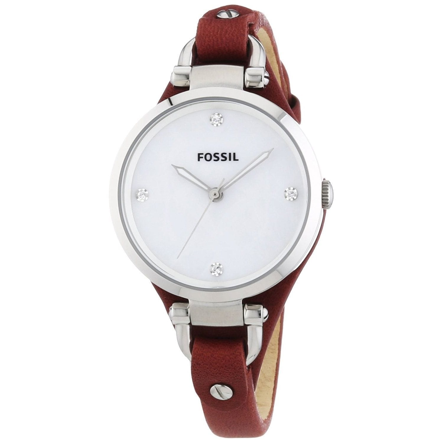 Fossil Women's Georgia Mother of Pearl Watch, Size One Si...