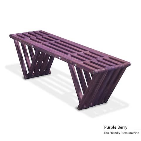 """Wood Bench X60 Made in America Eco-friendly Modern Style L 54"""""""