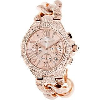 Michael Kors Women's MK3196 Camille Rose Goldplated Chronograph Watch