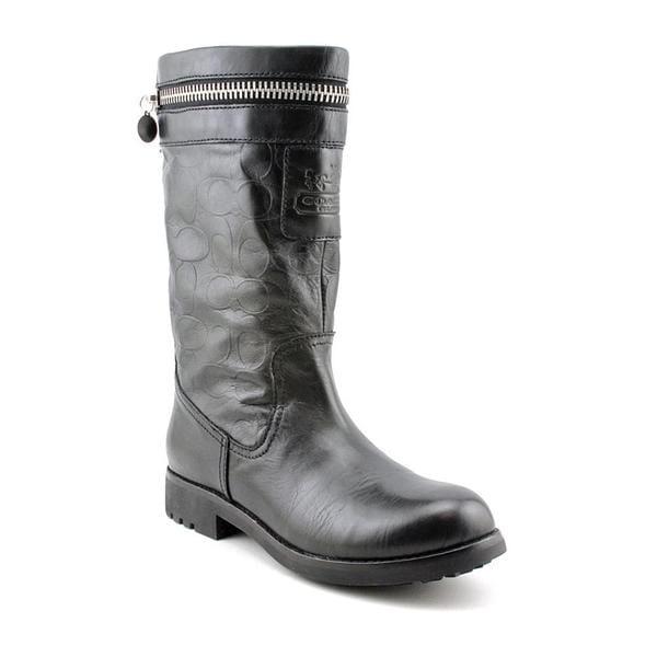 2cc43963b8e Shop Coach Women's 'Vinni' Leather Boots (Size 7 ) - Free Shipping ...