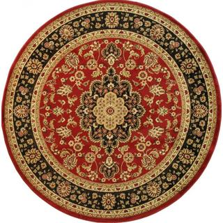 Well Woven Medallion Traditional Red Round Rug - 7'10