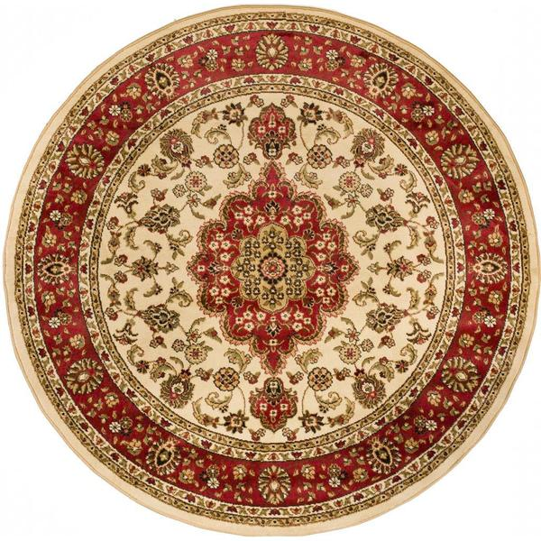 Medallion Traditional Ivory Area Rug 7 10 Round Free