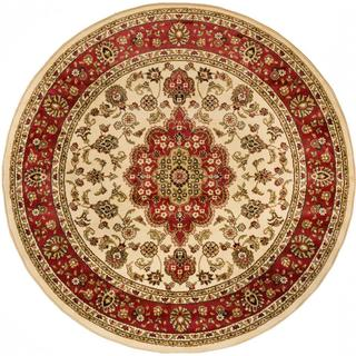 Medallion Traditional Ivory Area Rug (7'10 Round)