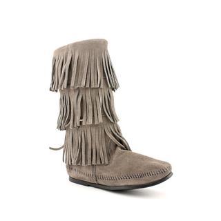 Minnetonka Women's '3 Layer Fringe' Regular Suede Boots