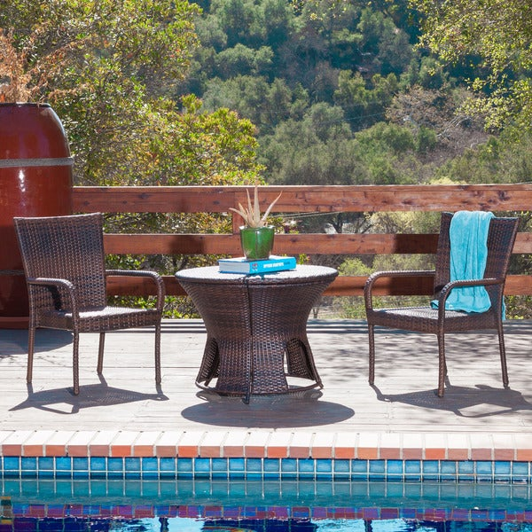 Rodolfo Multi-brown Wicker Outdoor Set by Christopher Knight Home