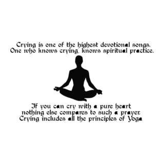Yoga Quote 'Crying is...' Black Vinyl Wall Decal Sticker