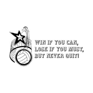 'Never Quit' Basketball Quote Wall Vinyl Decal Art Home Interior Sticker