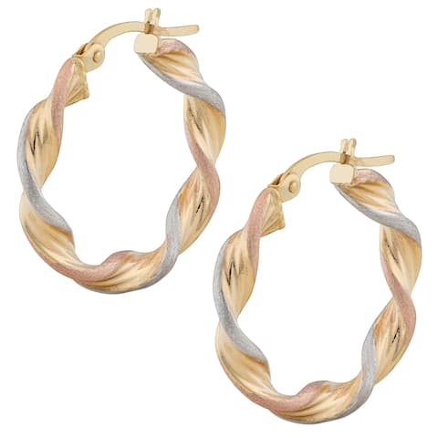 293ee6b406c14 Tri-Color, Hoop Earrings | Find Great Jewelry Deals Shopping at ...