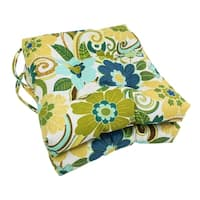 Blazing Needles 16x16-inch Squared Outdoor Spun Polyester Chair Cushions (Set of 2)