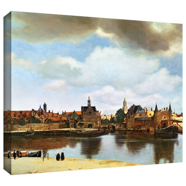 Johannes Vermeer 'View of Delft III' Gallery-Wrapped Canvas - Multi